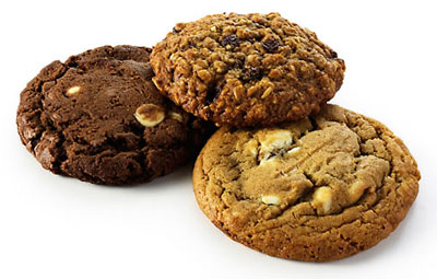 Three yummy cookies