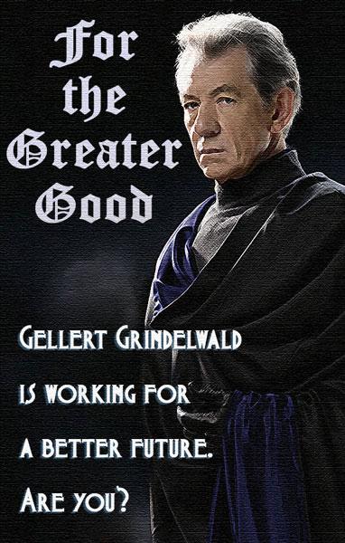 Propaganda Poster of Grindelwald